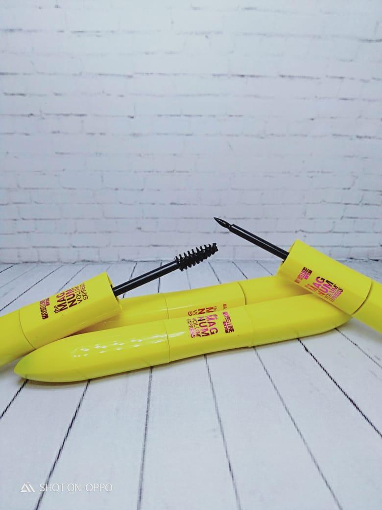 Mascara Dan Eyeliner MAYBELLINE MAGNUM Volum Express Waterproof Smodgeproof 2 in 1