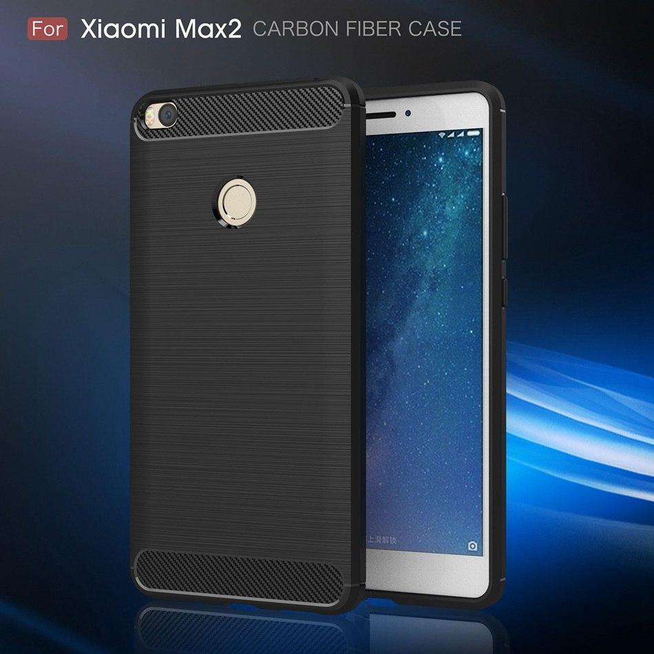 ... FIBER LINE case Xiaomi Mi Max 2 softcase casing carbon tpu back cover anti shock bumper ...
