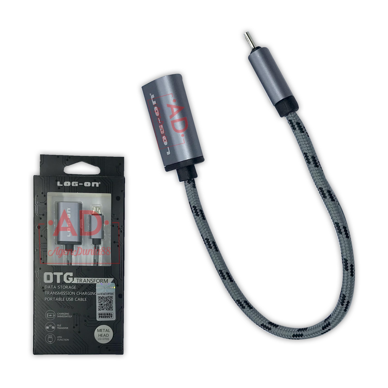 Detail Gambar OTG CABLE USB - MICRO USB to USB PORT - LOG ON OTG TRANSFORM LO-OT01 Terbaru