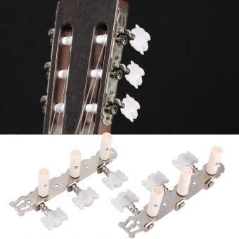 1L 1R Tahan Lama Mesin Kepala Kunci Tuning Peg Tuner String Tuner untuk Klasik Gitar-