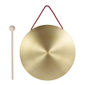 22 Cm Tangan Gong Simbal Kuningan Tembaga Chapel Opera Instrumen Perkusi dengan Round Palu Bermain-