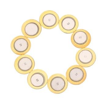 BolehDeals 10 Pcs Elemen Piezo Sounder Sensor Pemicu Drum Cakram DIY 35 Mm Tembaga-Internasional