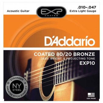 D'Addario EXP10 with NY Steel Acoustic Guitar Strings-Senar gitar akustik