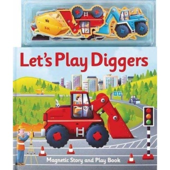 Hellopandabooks - Let's Play Diggers Magnetic Story and Play Book