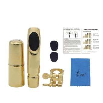 Harga leegoal Gold Plated Standard Alto Saxophone Mouthpieces (Gold Black) - intl