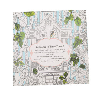 Harga HengSong Secret Garden Time Travel And Coloring Book English 12pages