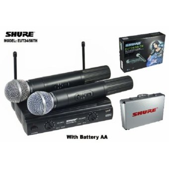 Harga mic wireless shure EUT-24/58TH + Hardcase(2 mic pegang)