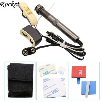 ROCKET- High Quality Adjustable Volume and Sound Professional Folk Acoustic Guitar Pickup Microphone Pickup - intl