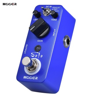 MOOER SOLO Distorsi Gitar Efek Pedal High-gain True Bypass Full Metal Shell-Intl