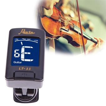 Tuning Guitar Violin Neck Rowin Tuner Gitar Bass Biola Clip On LT 33