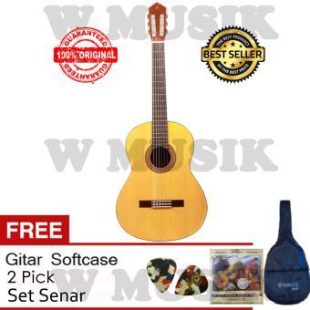 Yamaha Gitar Klasik C-315 Free Softcase + 2 Pick & Set Senar