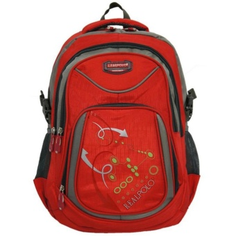 Real Polo Tas Ransel Kasual 6324 Backpack Daypack - Red
