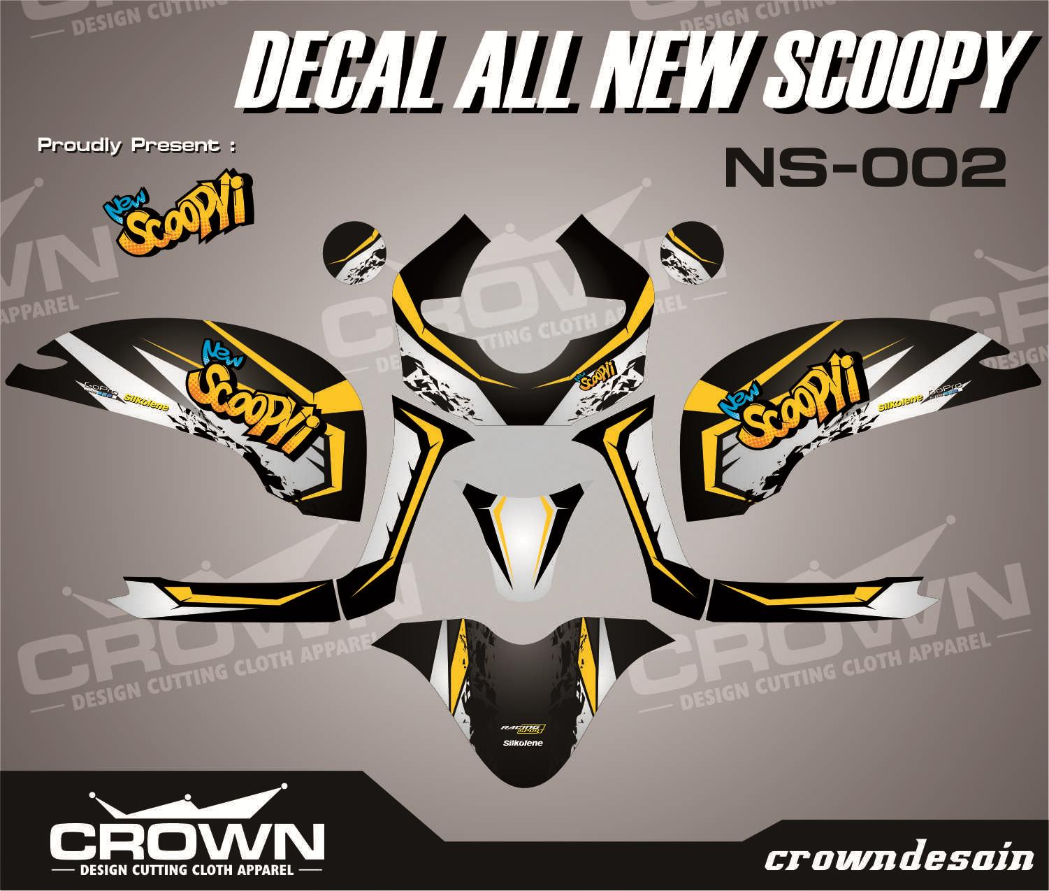 Detail gambar sticker decal honda all new scoopy full body playfull limited terbaru