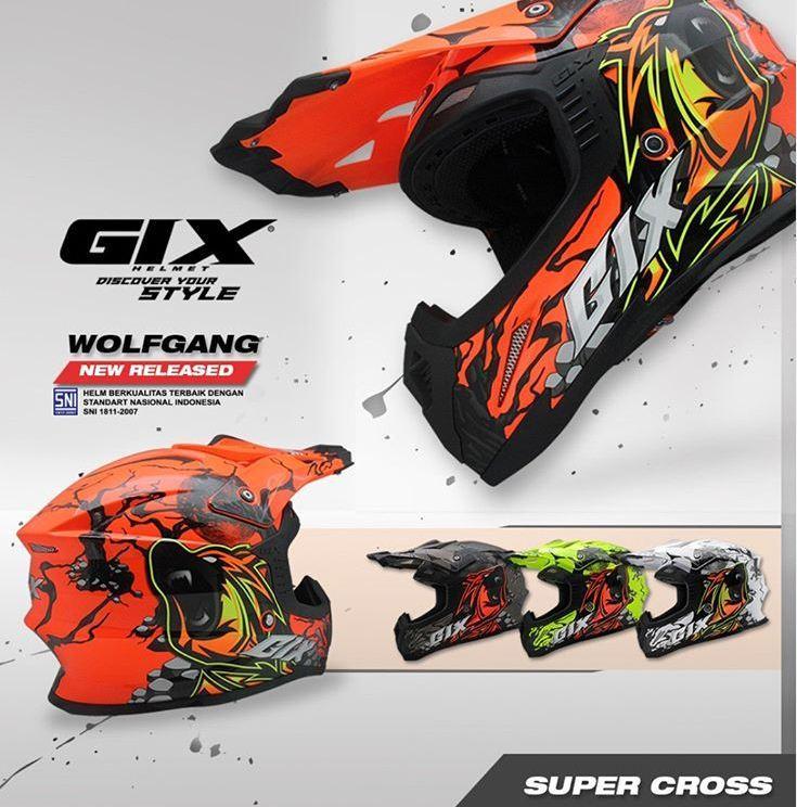 ... GIX Cross Wolf Gang Helm Motocross Helm Supercross - 3
