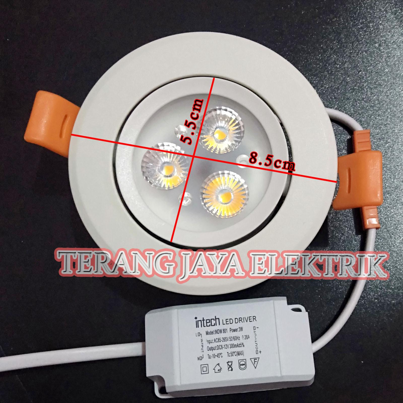 Downlight LED/LED Spot Light Mata 3 / 3 watt Putih INDW801 intech