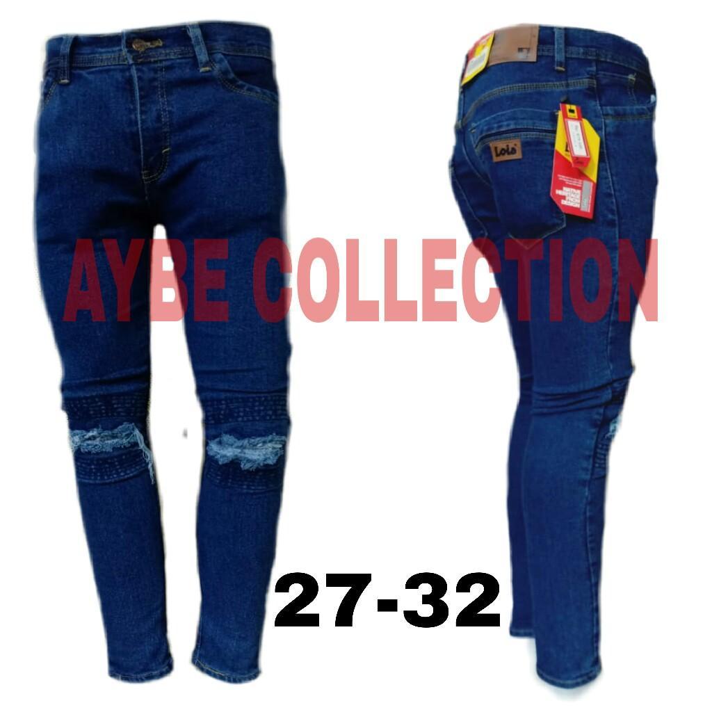 Neri collection celana panjang skiny sobek lutut lapisan terbaru