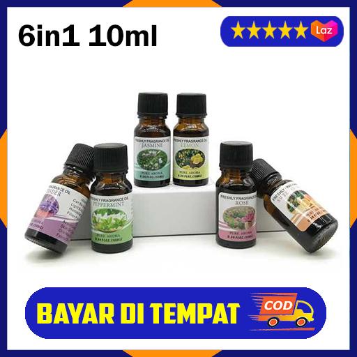 pure essential fragrance oils aromatherapy diffuser 10ml 6pcs / aromatherapy diffusers oil pengharum ruangan beraroma aroma terapi ruangan / minyak aromaterapi diffuser / isi humidifier