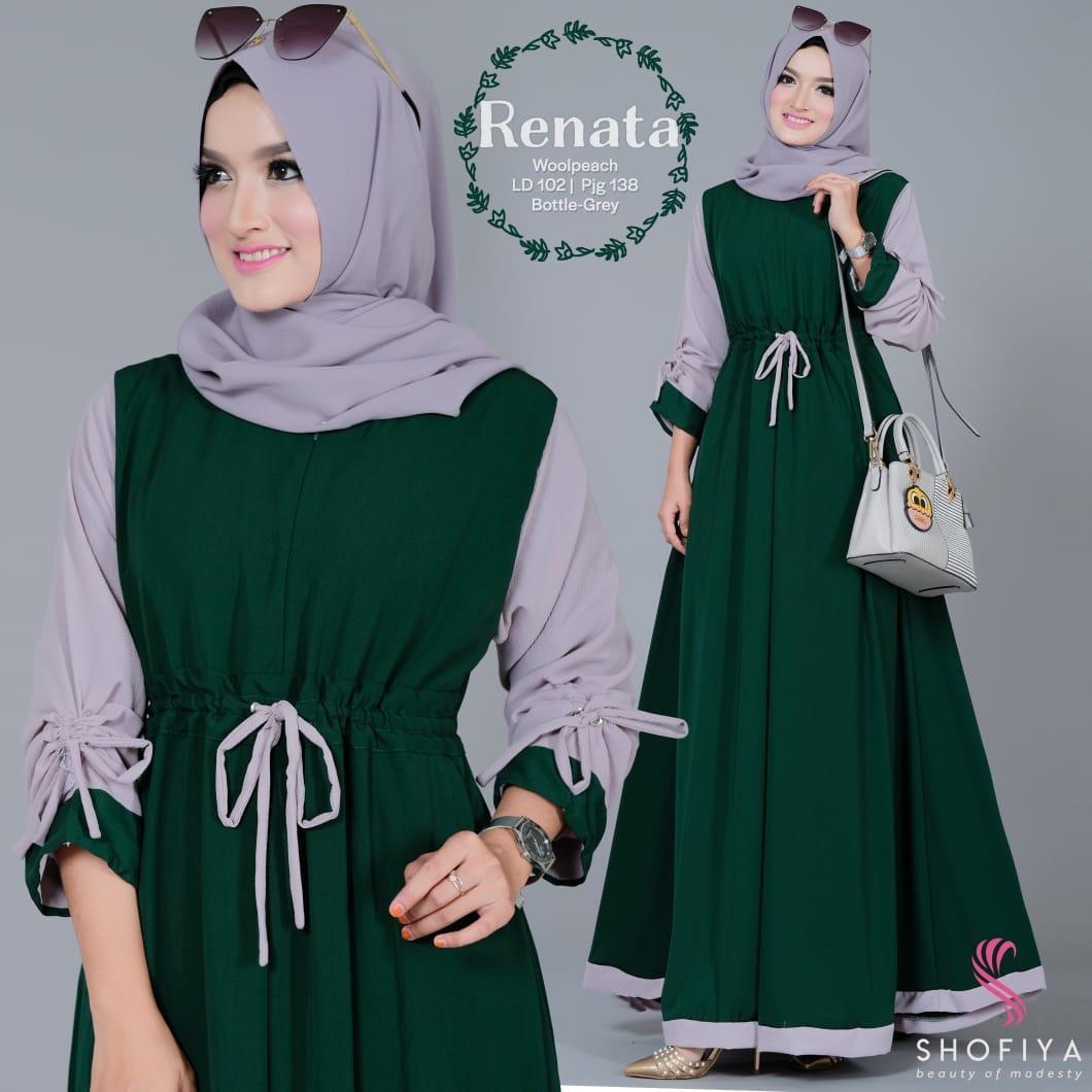 Gamis Renata Dress Ori Shofiya 100%/ Gamis Dress Muslim Syari