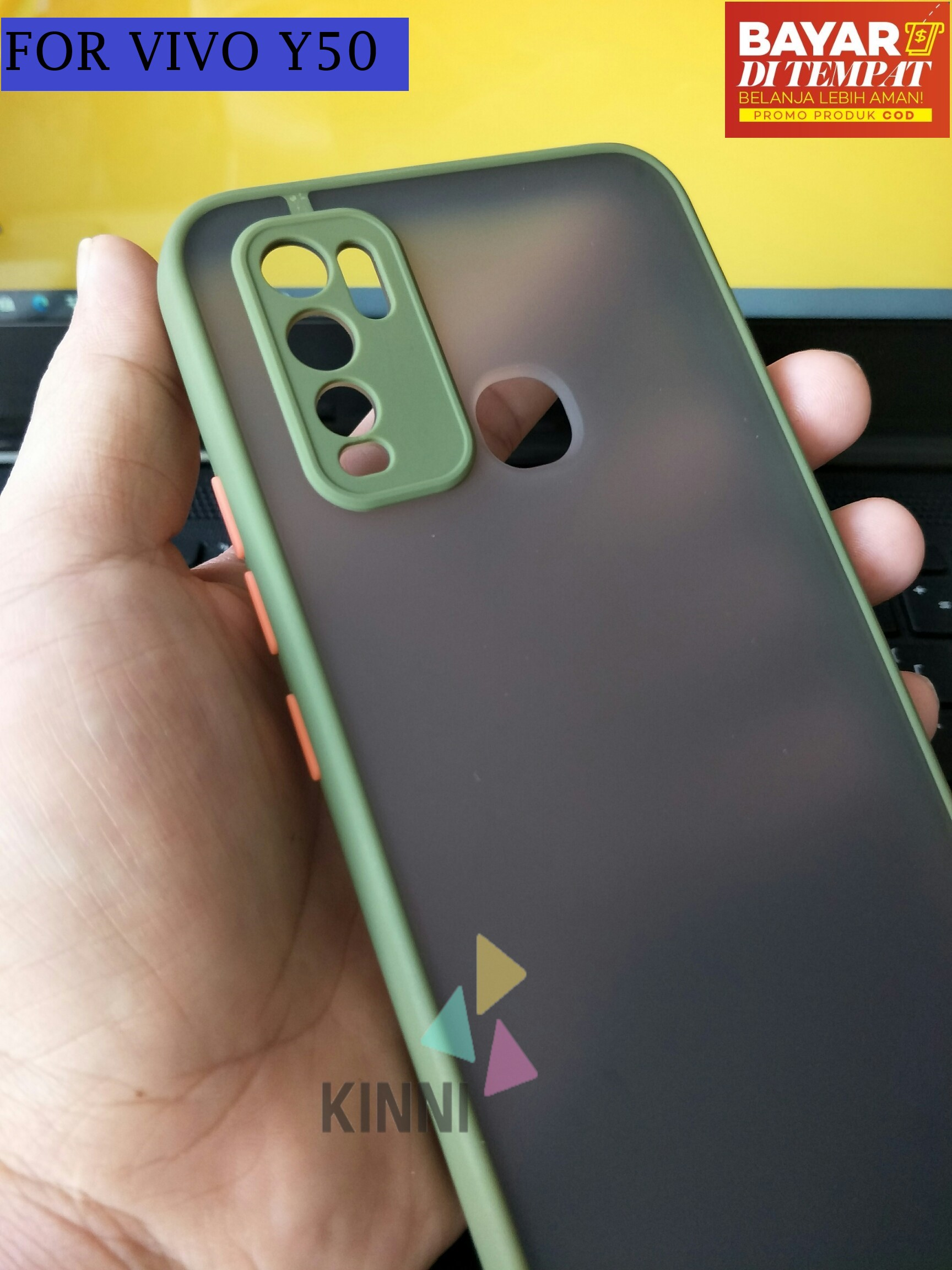 casing untuk vivo v19 camera protect new case aero original hard soft armor matte back cover casing frame transparent