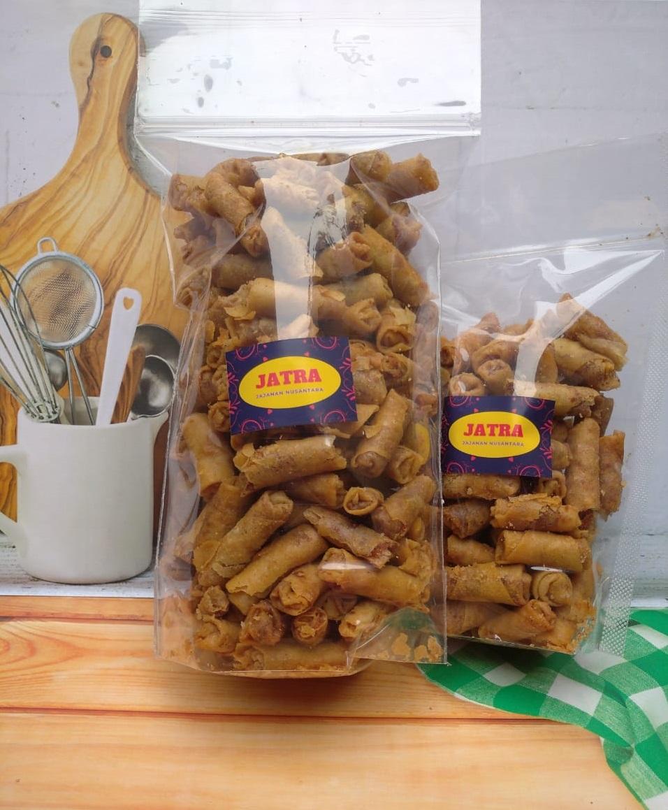 jatra [250 gram] camilan / jajanan kue sumpia kering isi ebi