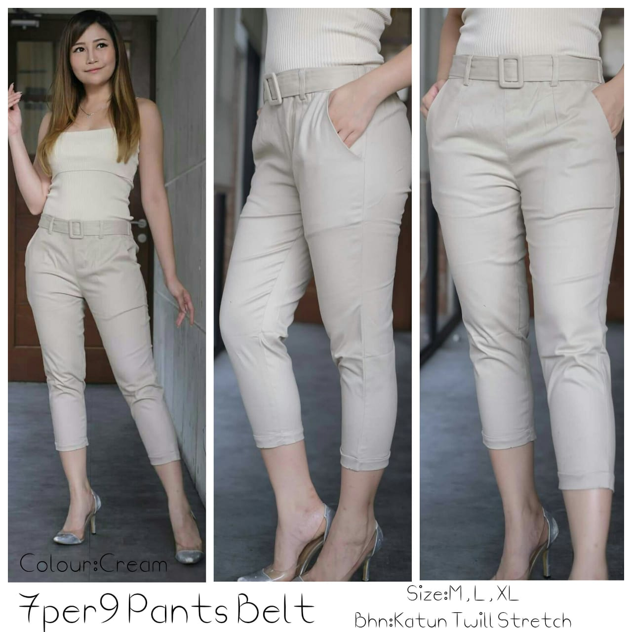 BEST 7per8 Pants Belt 4warna (BISA COD)
