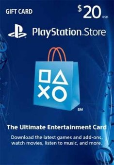 Playstation Network Card US 20$ - Digital Code - Email Delivery