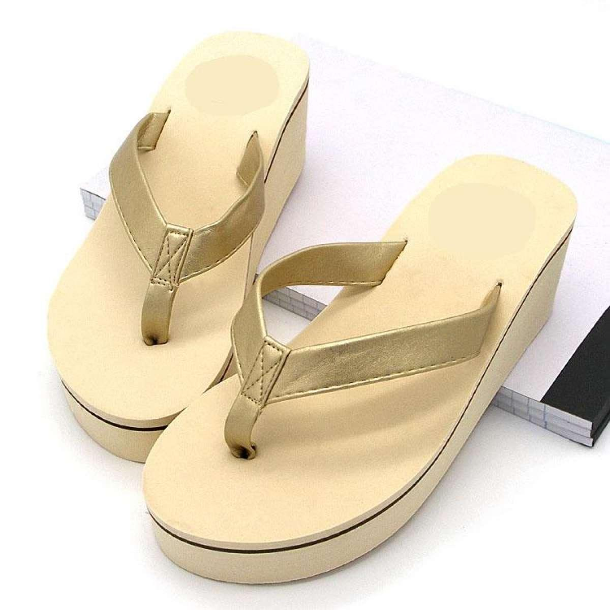 firdaus shopping sandal wedges wanita Luna Gold