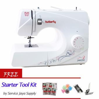 BUTTERFLY JHK 25A Mesin Jahit +FREE SJS Starter Kit