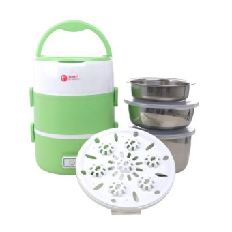 Harga Tori Lunch Box Rice Cooker TLB-111 - Putih-Hijau