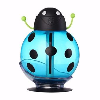 Harga LaCarLa Mini USB LED Beetles Ultrasonic Humidifier Portable Air Diffuser Night Light - Biru