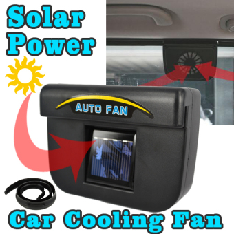 Harga Universal Auto Cool Solar Powered Car Air Ventilation System - Black