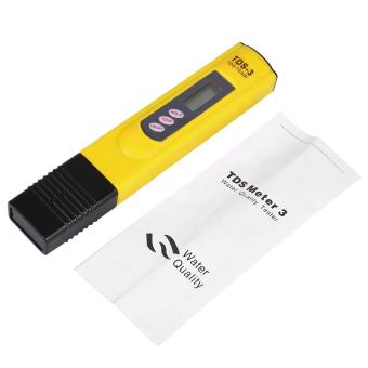 Harga New LCD Water Quality Testing Pen Purity Filter TDS Meter Tester 0-9990 PPM Temp Yellow - intl