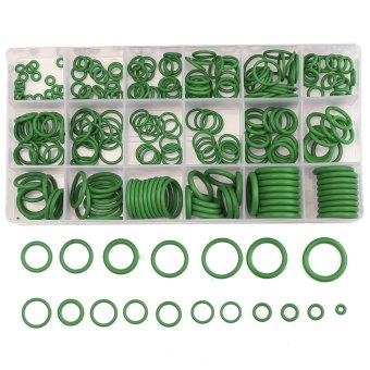 Harga 18 Sizes Rubber HNBR O Rings Car Auto Repair Seal Kit Air Conditioning Set green - intl