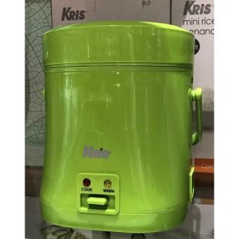 Kris Rice Cooker Mini Penanak Nasi Kapasitas 0.3 Liter Hijau Magic Com - C6aa56
