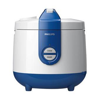 Philips Rice Cooker HD3118 - Penanak Nasi Kapasitas 2 Lt - Biru