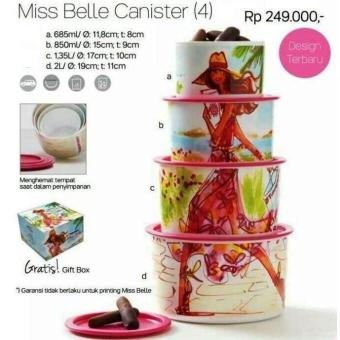 Toples Tupperware Miss Belle Canister (4 Toples) Diskon Promo - 556395