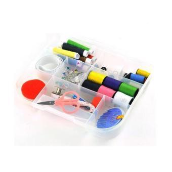 Transparent Portable Sewing Box Kit - Kotak Jahit Set Transparan