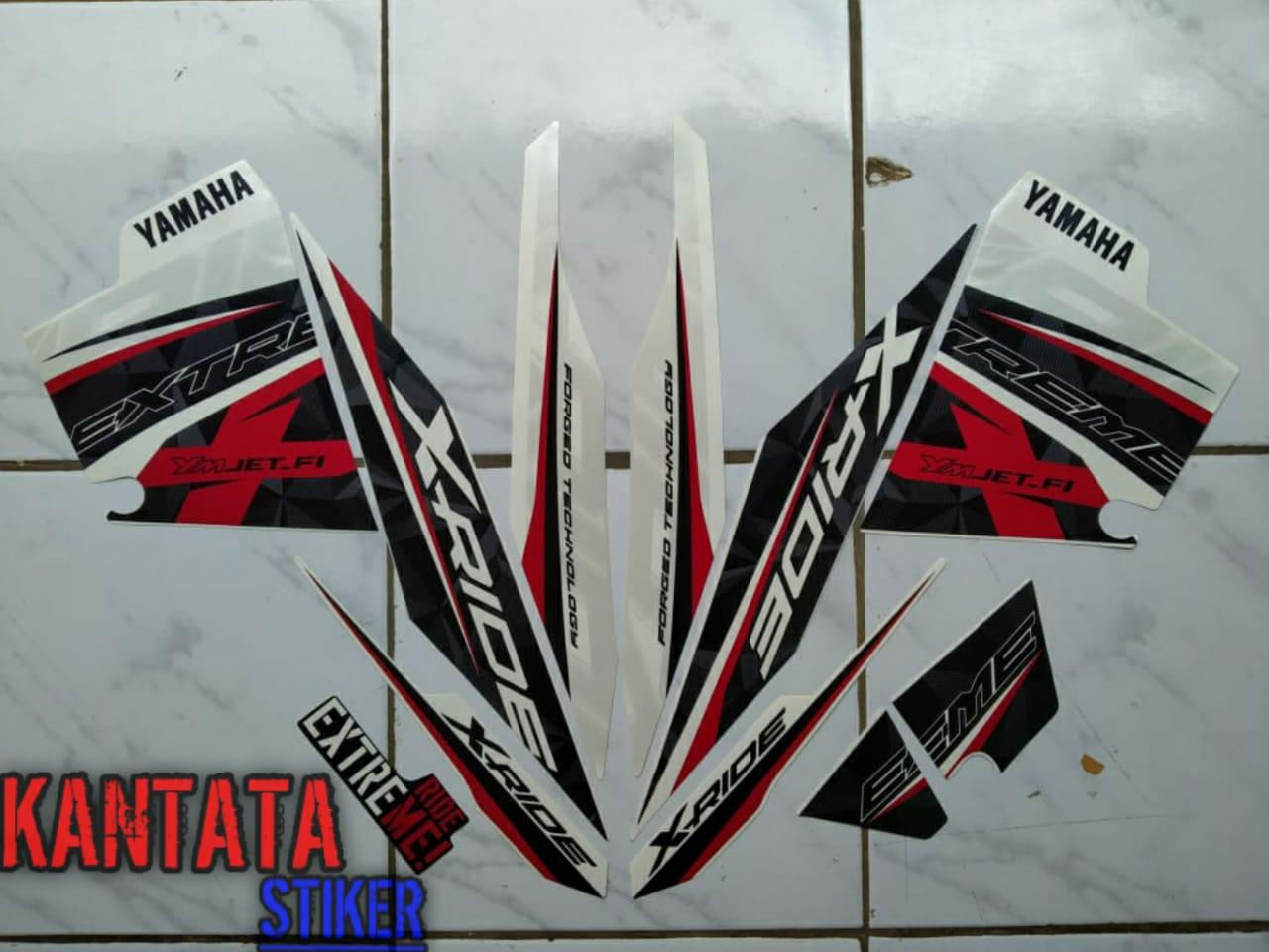 striping motor yamaha x-ride 125  putih