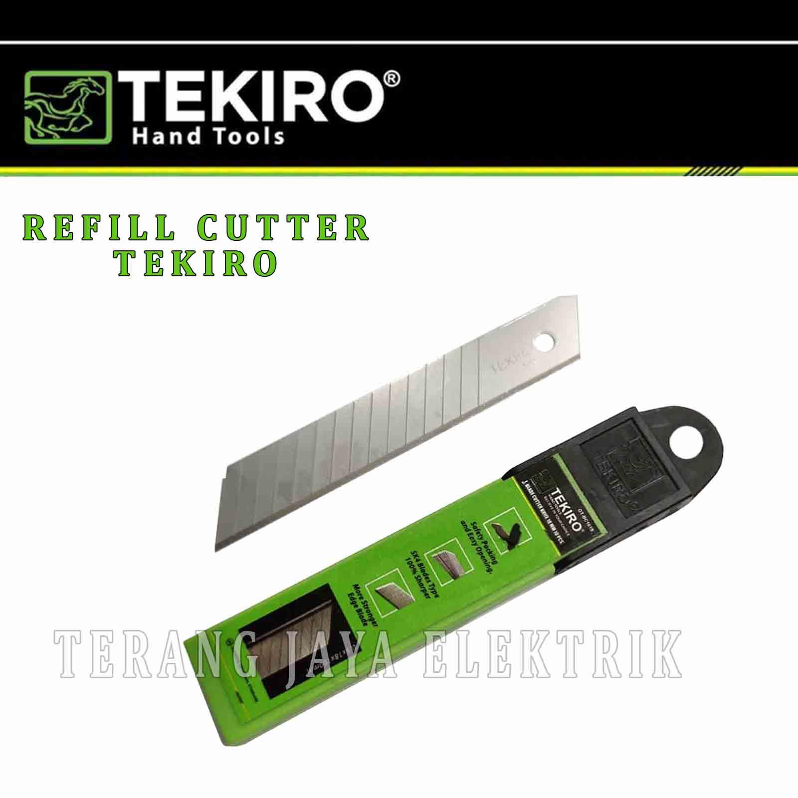 isi ulang pisau cutter/refill cutter besar 18mm tekiro isi 10 pcs