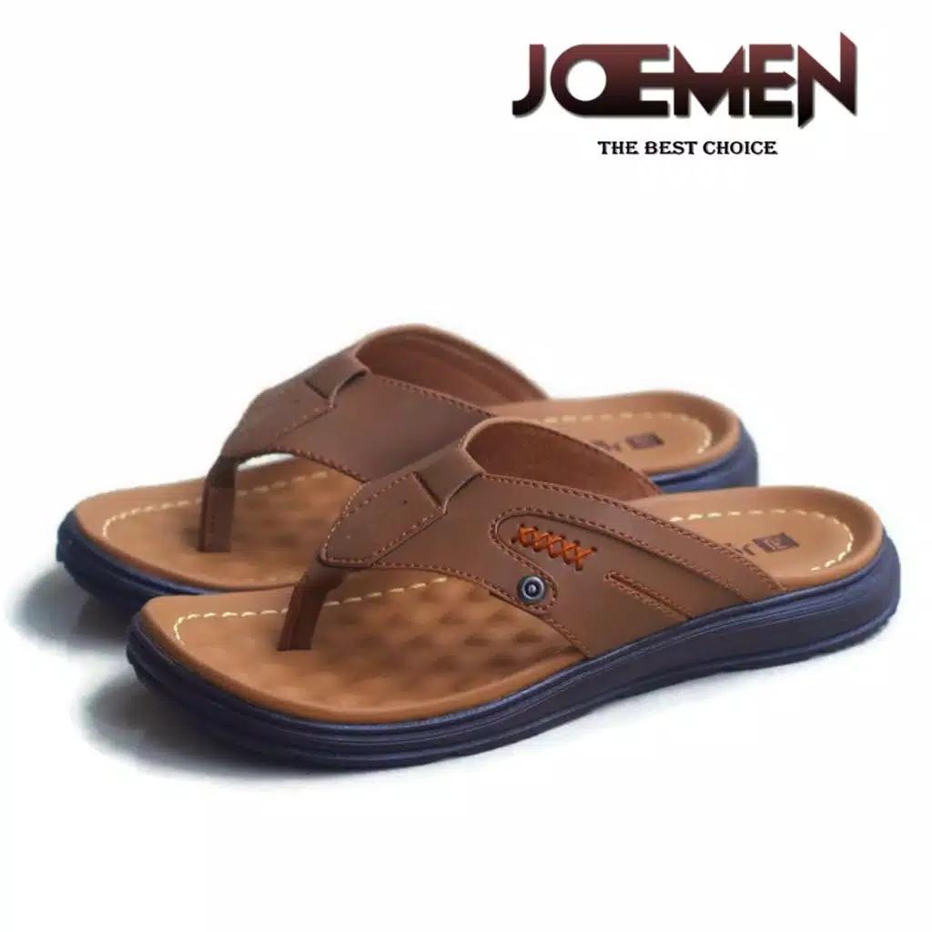 sandal pria kulit joemen s 01 original pria sandal jepit import sandal kulit pria  / sandal kulit pria keren / sandal kulit  / sandal kulit pria original / sandal laki laki