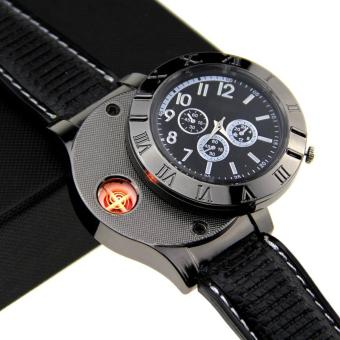 Harga universalCreative Watches USB Powered with Lighter / Jam Tangan Mancis - Black