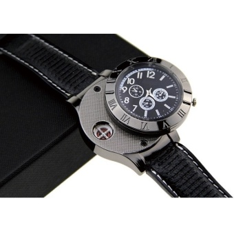 Harga Creative Watches USB Powered with Lighter / Jam Tangan Mancis - Black