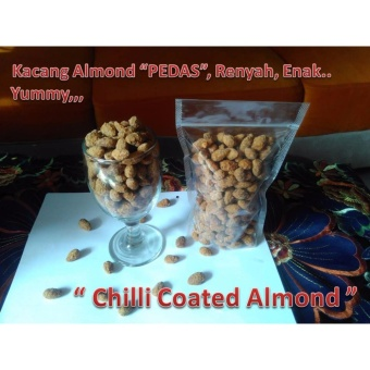 Kacang Almond Rasa Pedas 500 Gr - Chili Coated Almond