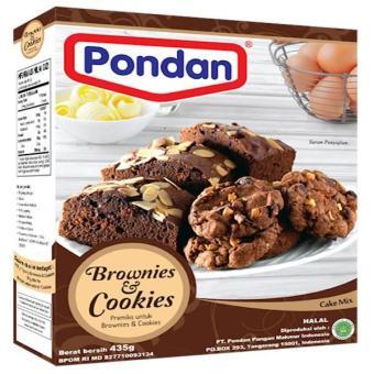 Pondan Brownies & Cookies