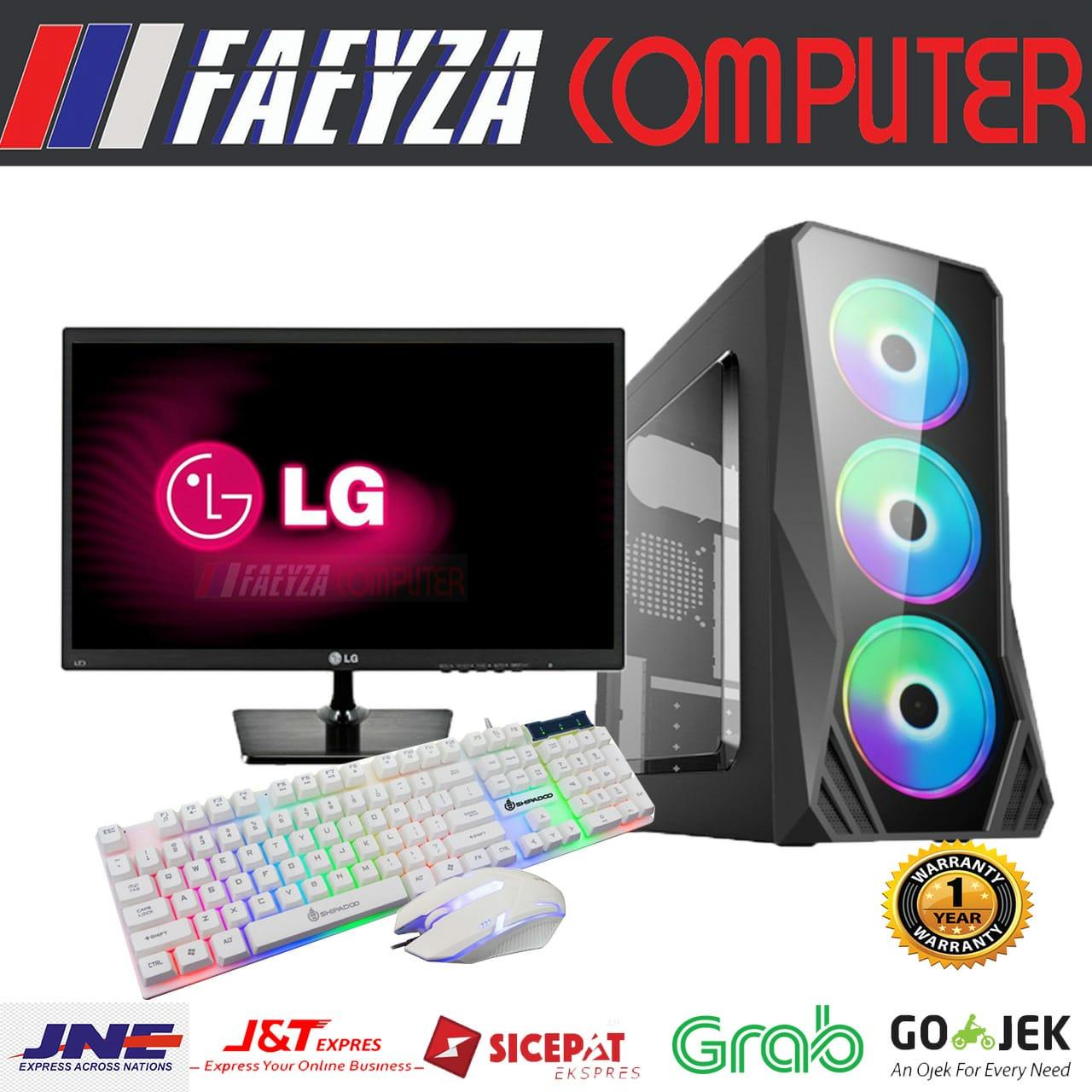 pc rakitan intel core i5 650 + ram 8gb + vga 2gb ddr3  led lg 19″