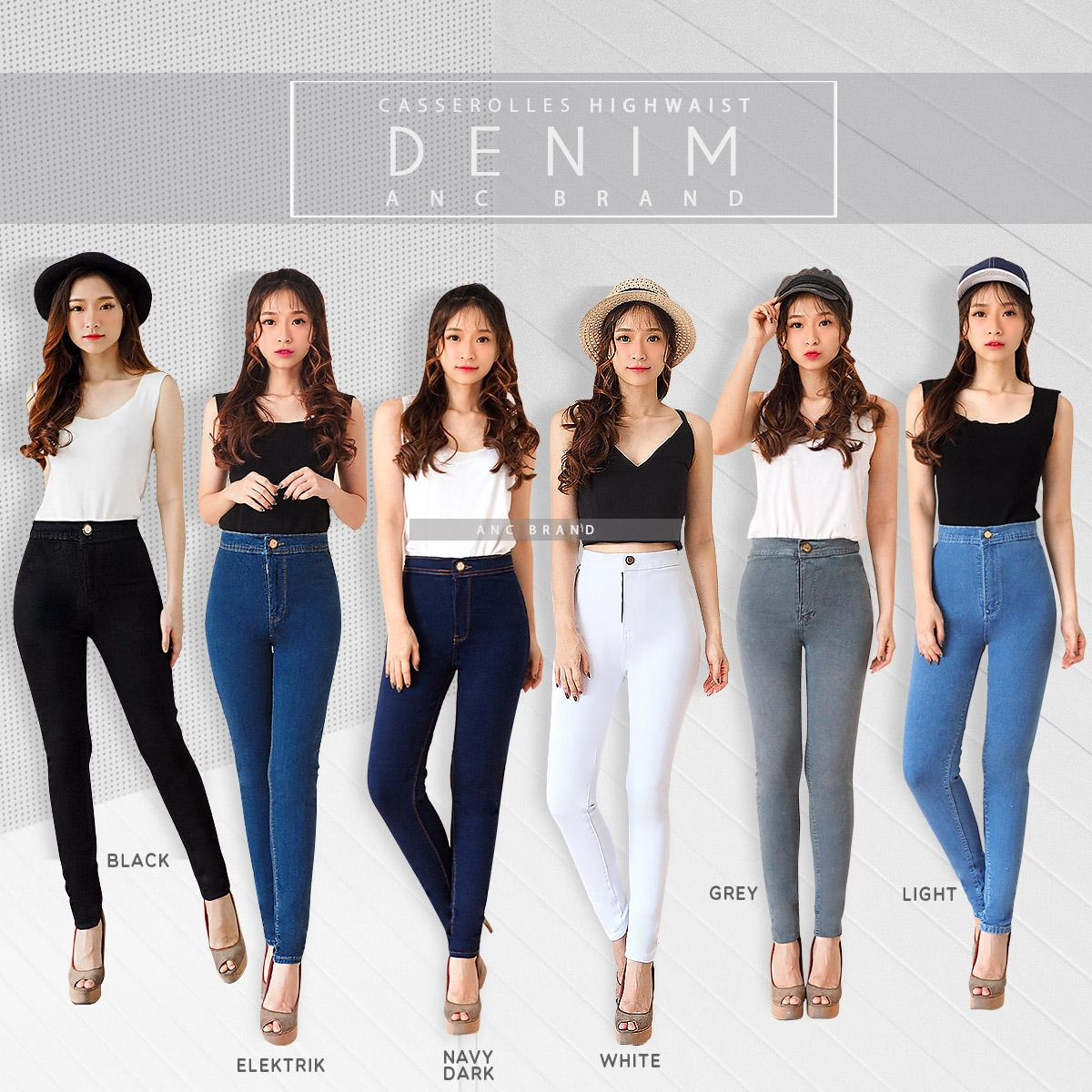 celana highwaist bow vv combi – (ready warna light medium acid) – fashion wanita   ancien store