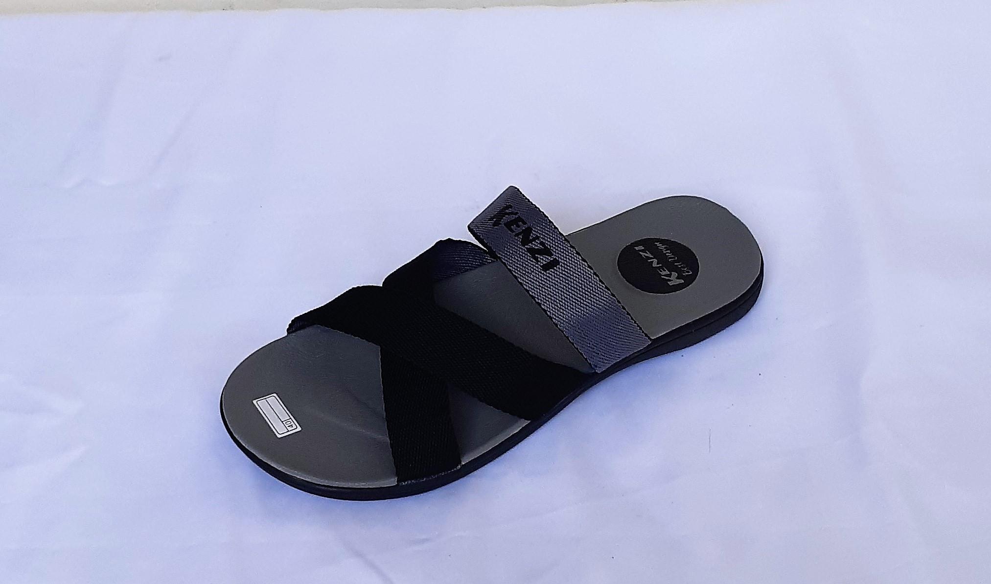 Detail Gambar Sandal fashion kenzi kokop model terbaru Pria/Wanita hitam abu-abu-SK-Divajaya Shop Terbaru