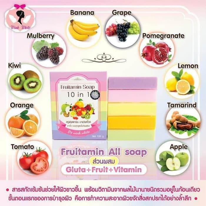 ... Fruitamin Soap 10in1 / Sabun Untuk Memutihkan Kulit / Sabun Alami untuk Memutihkan Kulit / Garansi ...