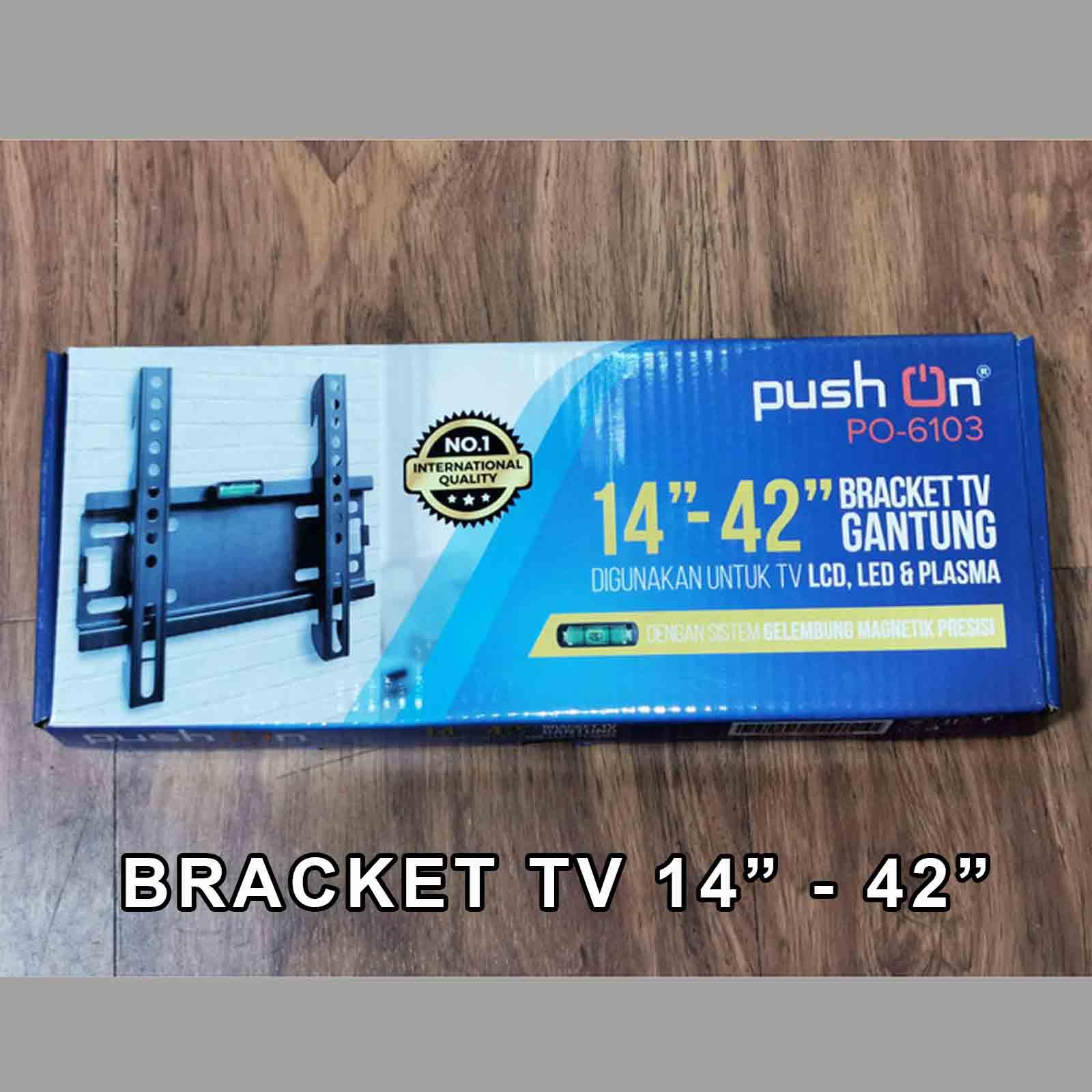 bracket/braket/brecket tv lcd led 14 – 42 inch push on po-6103