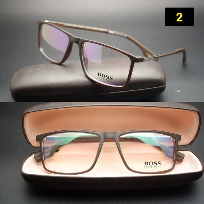 Detail Gambar Frame Kacamata Hugo Boss 066 Cokelat Kacamata Vintage Kacamata  Fashion Terbaru 2b36846b44